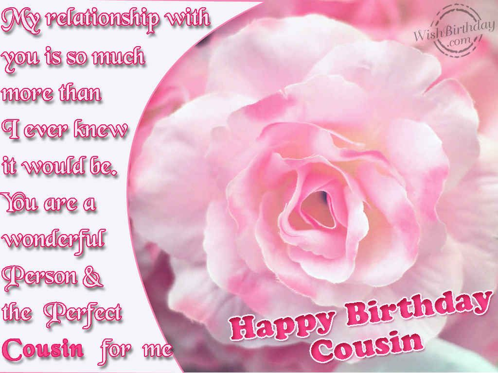 Happy Birthday Cousin Images Happy Birthday To A Wonderful