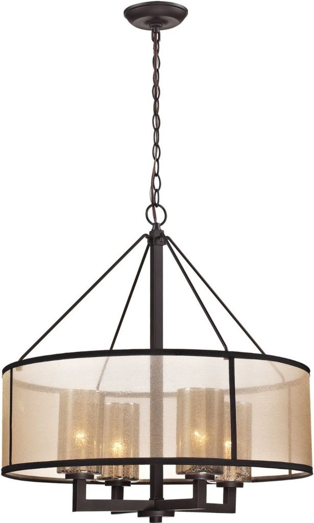 Modern glass chandelier 42200 drum shade four lights modern glass chandelier 42200 drum shade four lights chandelier top bronze aloadofball Images