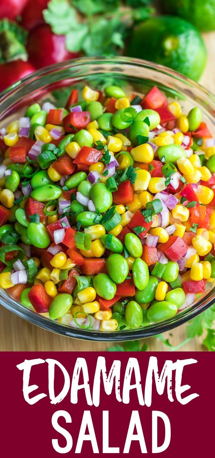Photo of Edamame Salad with Cilantro Lime Dressing – Peas And Crayons