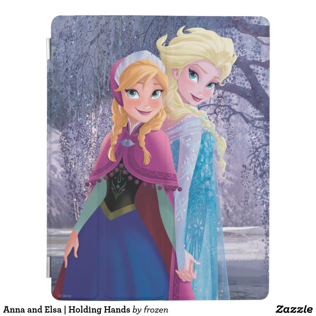 Anna and Elsa Holding Hands iPad Smart Cover Zazzle