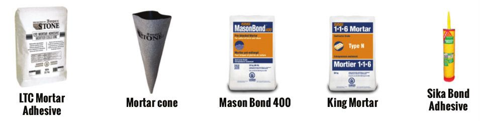 Impex Stone offers accessories such as Mason bond 400, sika bond
