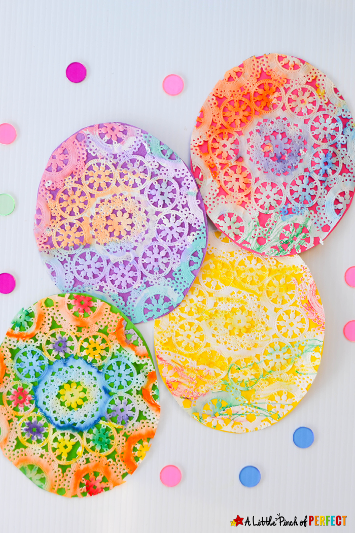 Photo of Beautiful Easter Egg Doily Craft for Kids Inspired by Rechenka's Eggs –