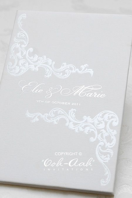 Hard Cover Wedding Invitations Sydney Designed By Ooh Aah Stationery Invitation Cards