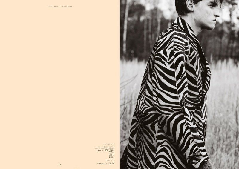 editorial: You can't go wrong in BLACK AND WHITE | Gentlemans Diary | Go for zebra!
