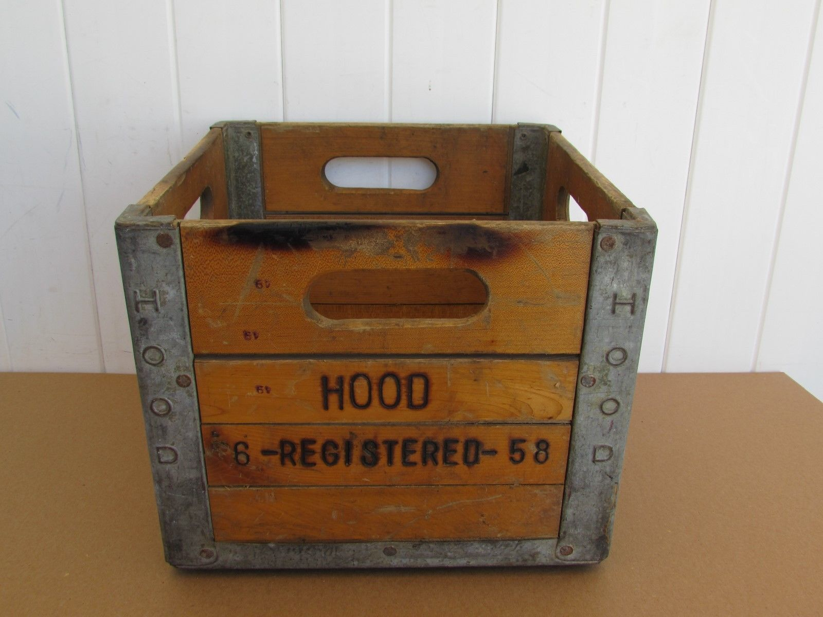 Vintage Milk Crate Hood 1958 Wood Great Looking Vintage Crates Crates Milk Crates