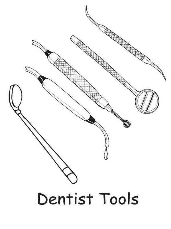 Dentist Tools Coloring Pages Bulk Color Dentist Coloring Pages Tools