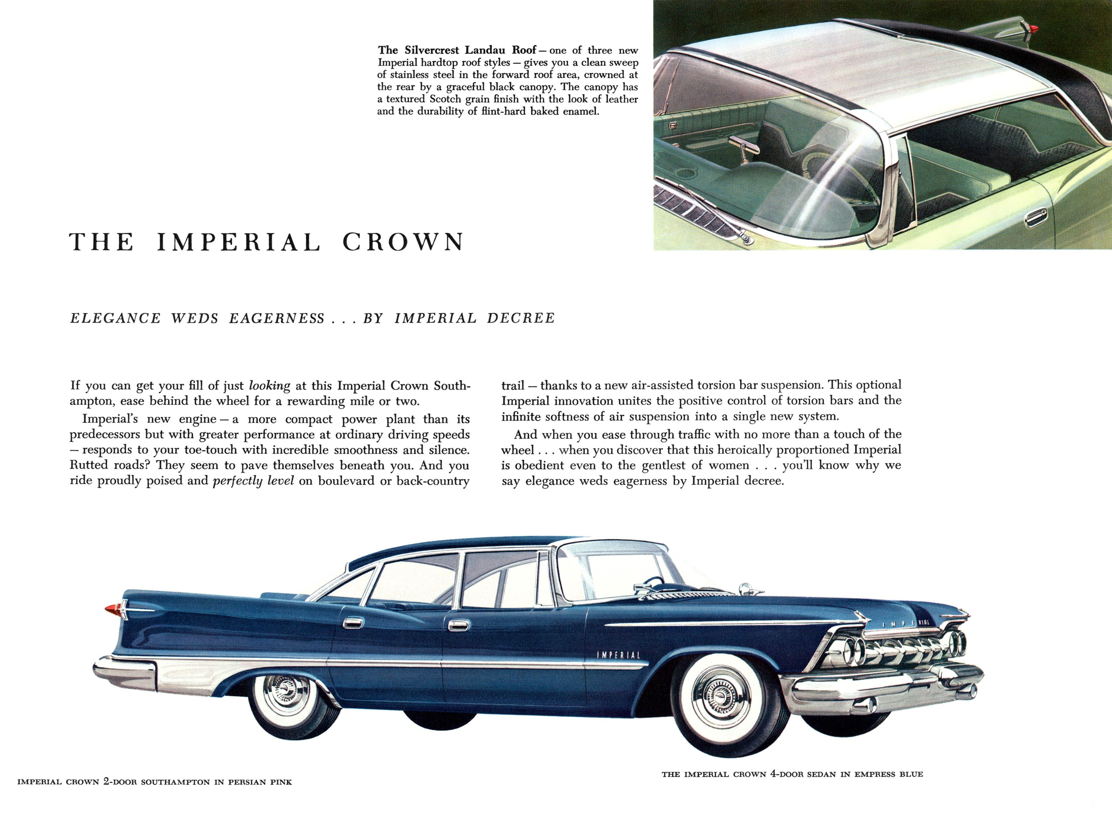 Cars elegance weds eagerness by imperial decree 1959 chrysler imperial crown