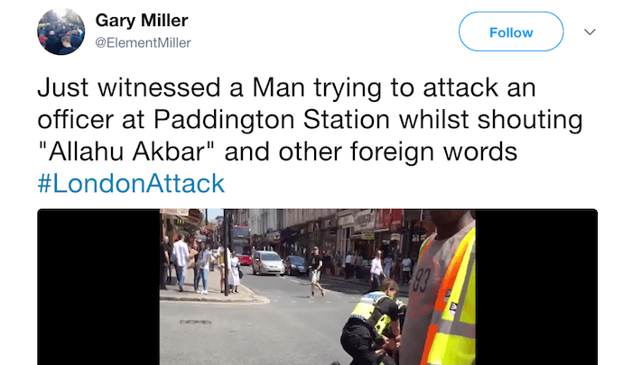 "UK: Muslim screaming ""Allahu akbar"" attacks police, ""not being treated as terror related"" 