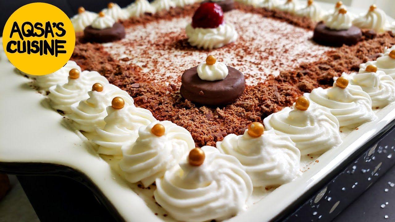 No Bake Christmas Dessert Recipe By Aqsa S Cuisine Youtube In 2020 Desserts Christmas Food Desserts Dessert Recipes