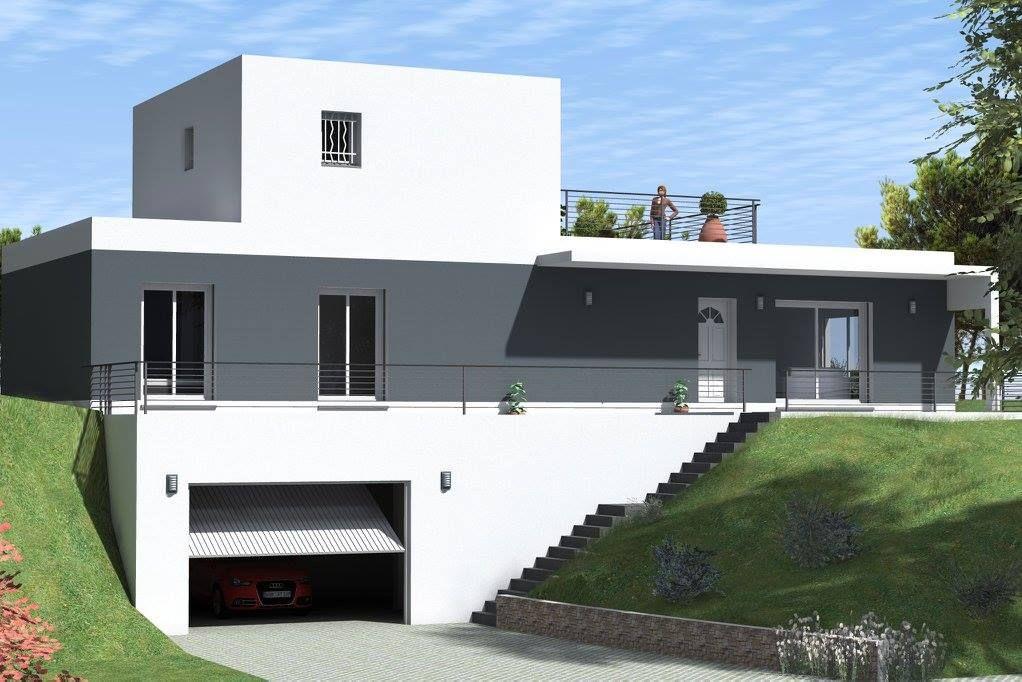 Modèle maison toit plat Créavilla Perspectives Créavilla