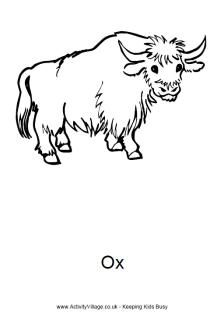 Ox coloring page Moodboard Old