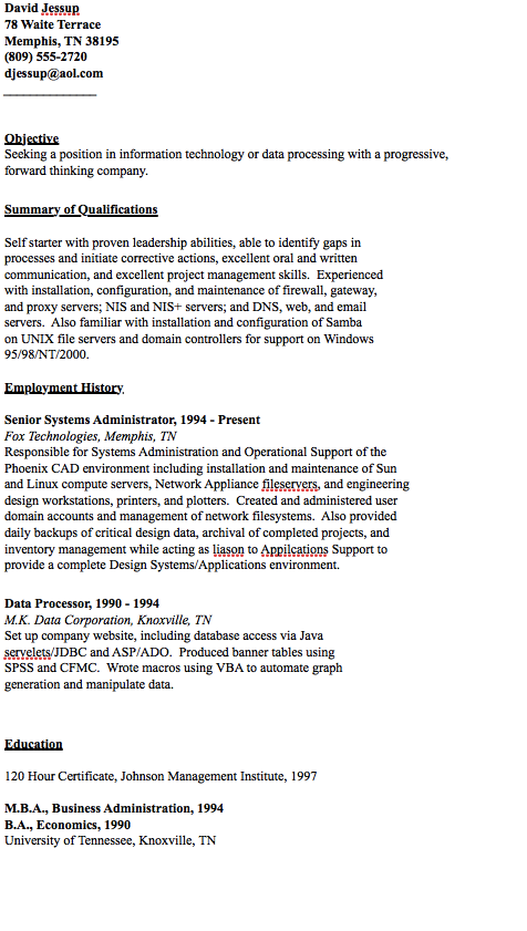 Example Of Data Processor Resume  HttpResumesdesignCom