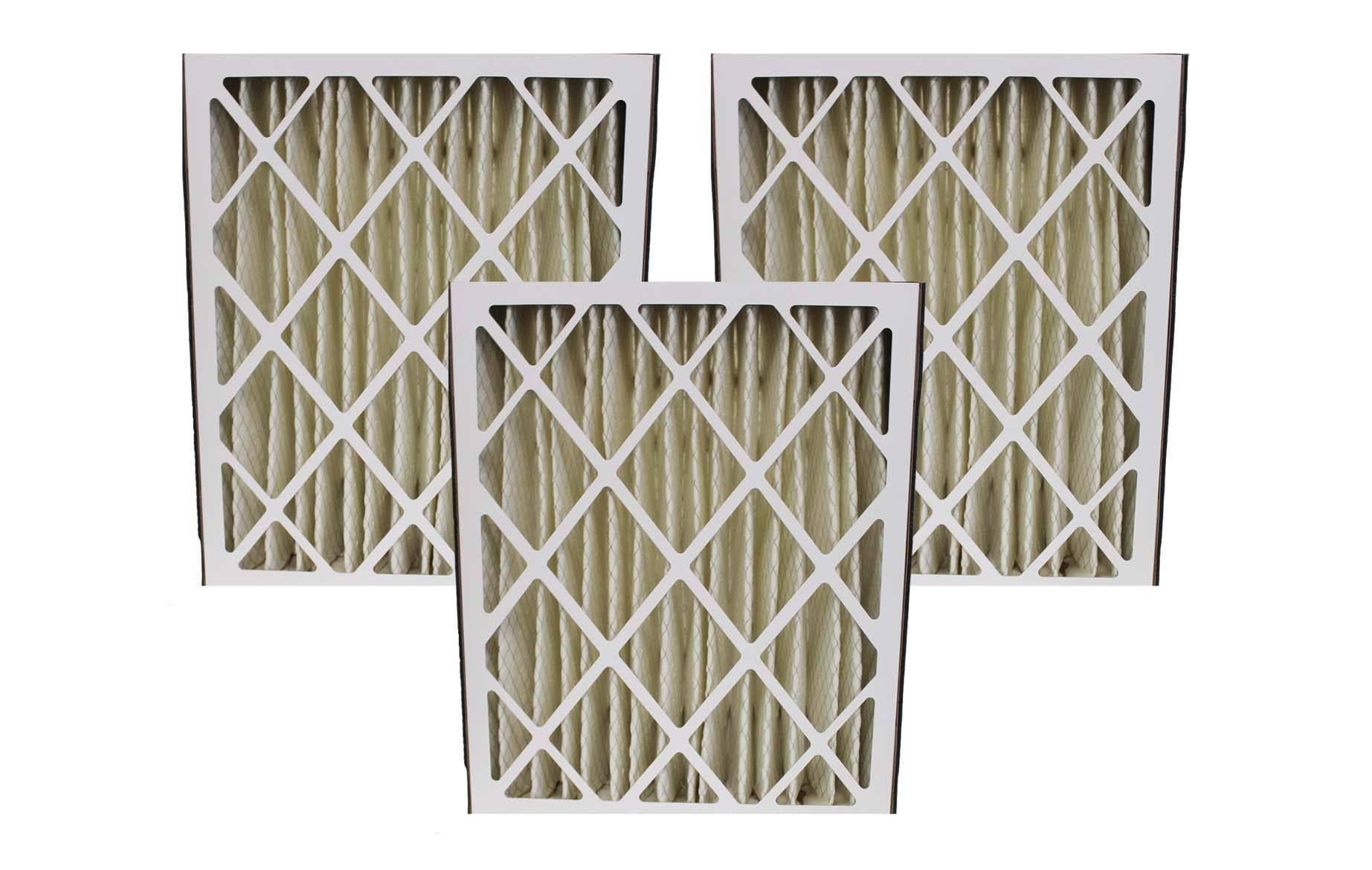 3 Trion Air Bear 20x25x5 MERV8 HVAC Furnace Filters