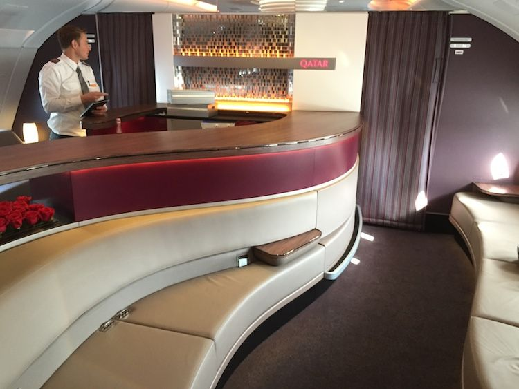 Qatar airways a380 business and first class lounge http
