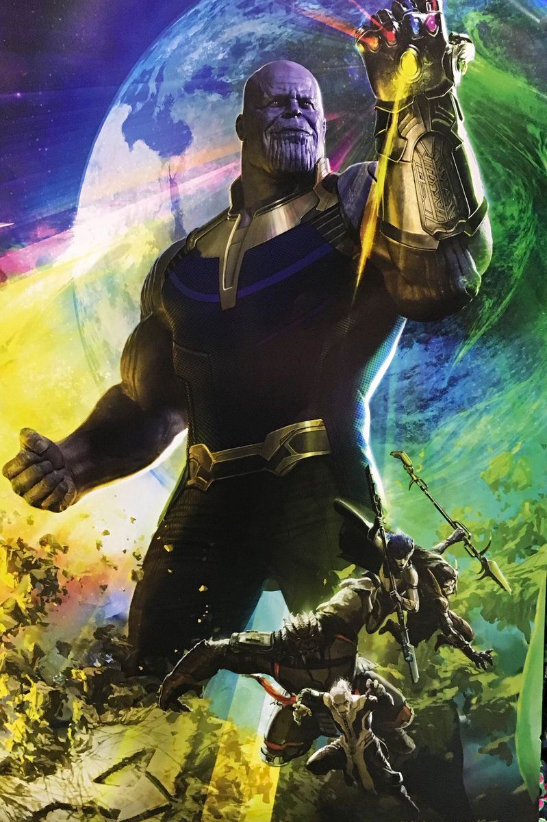New Avengers Infinity War Poster Shows A Very Happy Thanos And His Black Order Geektyrant Avengers Infinity War Avengers Marvel Studios Movies