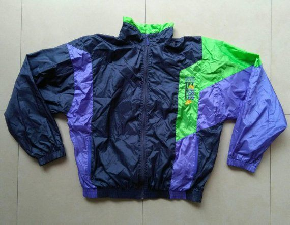 b4a5b310c1e Vtg NIKE Shell Windbreaker Jacket / Old School windbreaker Vintage Rap  Retro Hip-hop outdoor activities jogging sport colorful adidas fila L Size  L ...