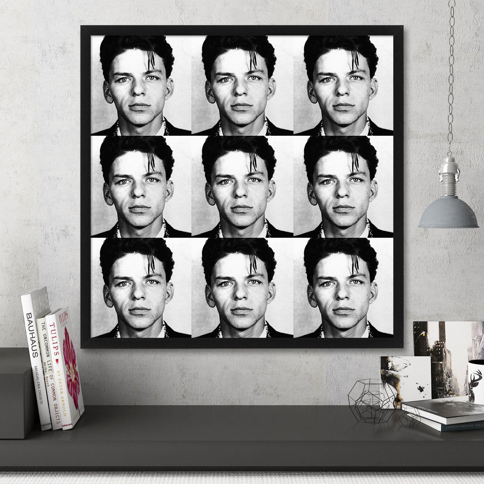 Frank Sinatra Mugshot Print, Large Wall Art, Pop Art