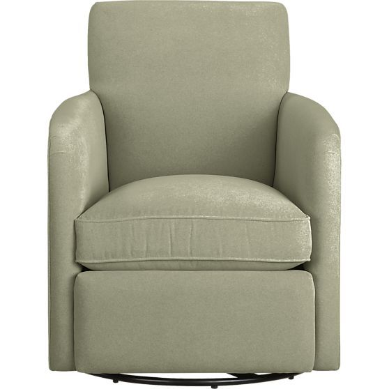 Awe Inspiring Zoe Swivel Chair In Chairs Crate And Barrel Fan Front Uwap Interior Chair Design Uwaporg