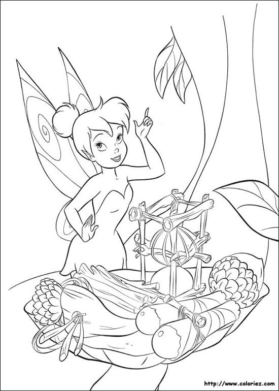 Tinkerbell colouring pages