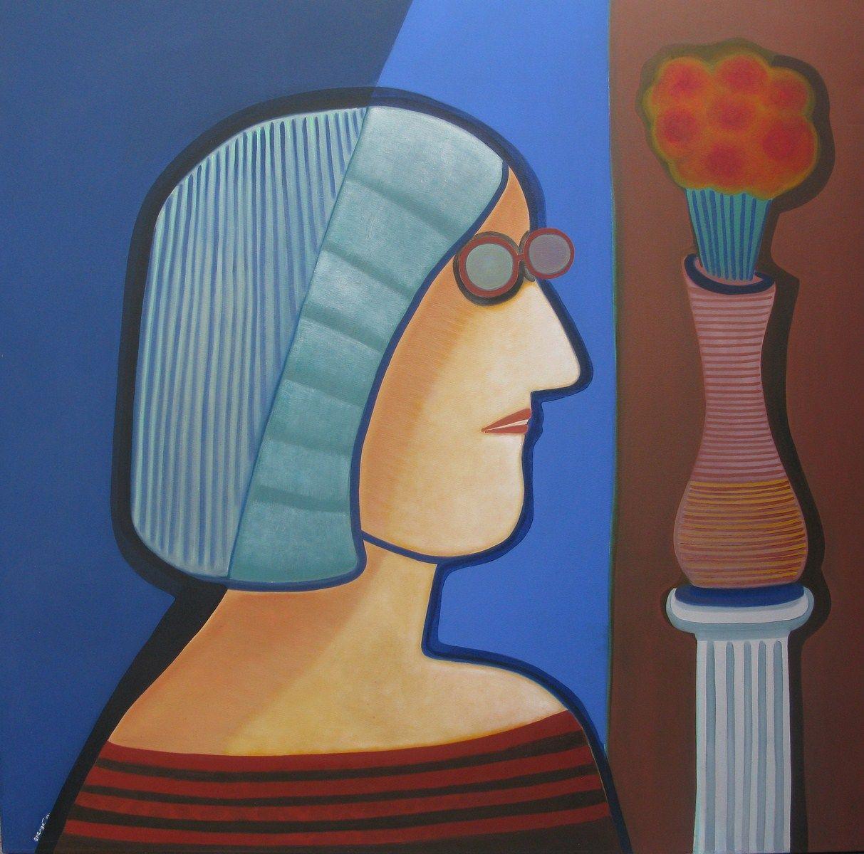 Un verano, 2006 (Óleo sobre tela) 170 x 170 cm.