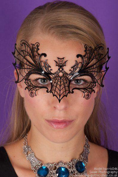 Spider Black Metal Venetian Mask