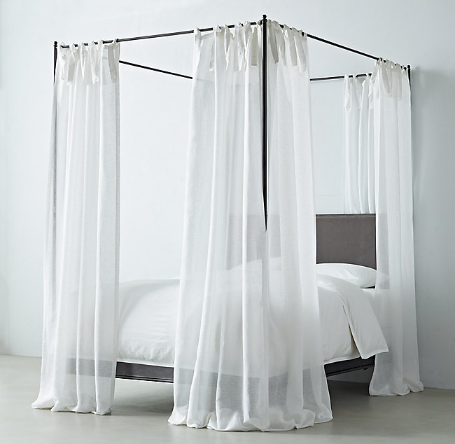 Sheer Linen Cotton Canopy Sheers Set Of 2 Living Room Canopy Custom Drapes Drapes And Blinds
