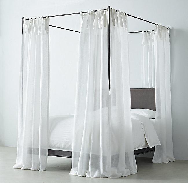 Sheer Linen Cotton Canopy Sheers Set Of 2 Bedroom Inspirations