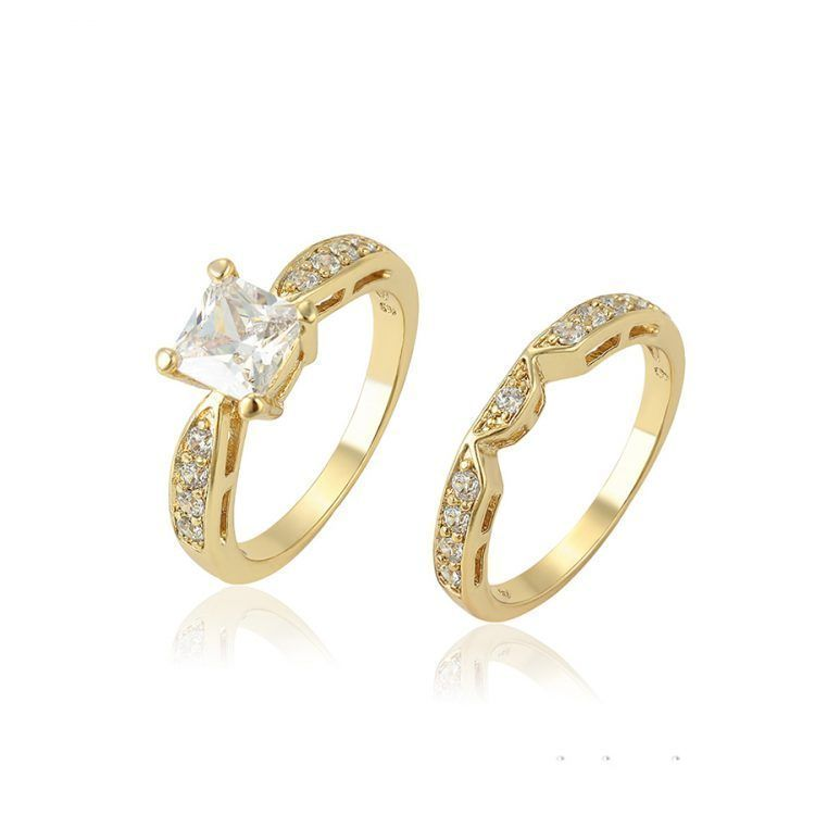 Korean Wedding Ring Design Gold Plated Jewelry Ring Designs