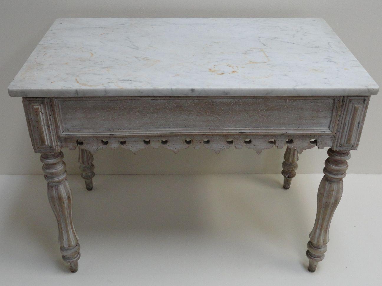 antique marble top kitchen island mecox gardens white just decorate ...