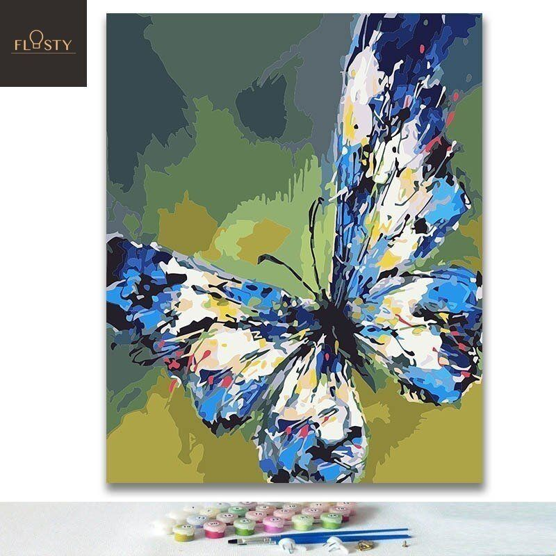 Paint By Numbers Beautiful Butterfly Painting Beautiful