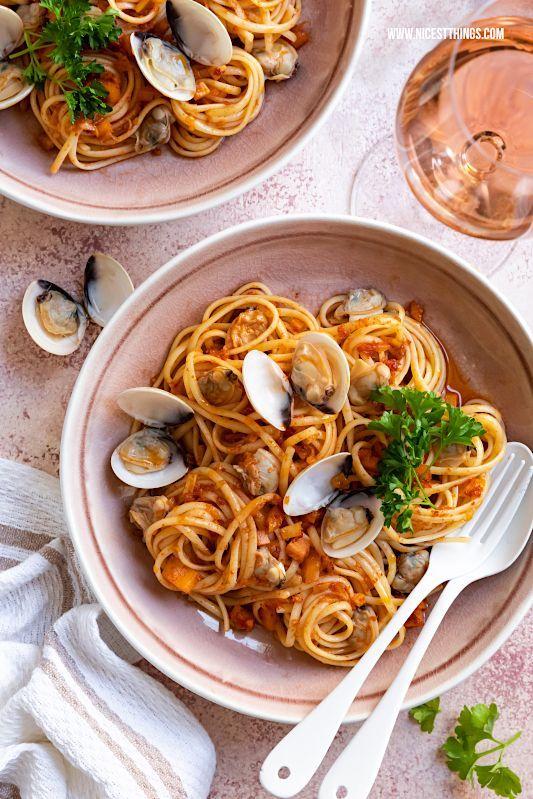 Spaghetti alle vongole Rezept  Roséwein der Provence