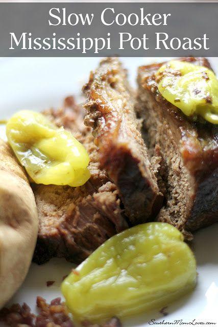 Southern Mom Loves: Slow Cooker Mississippi Pot Roast {Recipe}