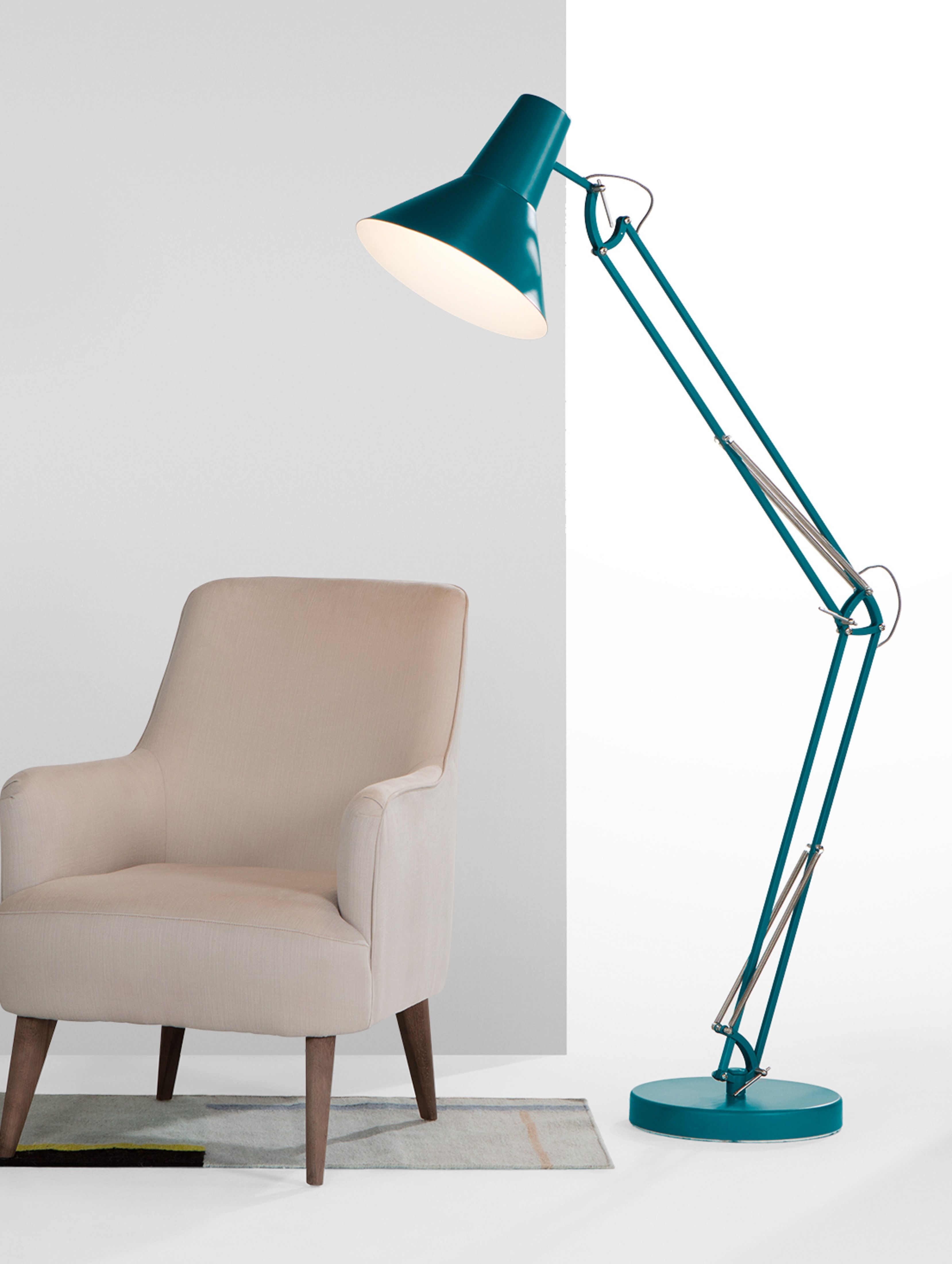 Teal green giant floor lamp bronx pinterest floor lamp teal bronx giant floor lamp matt teal set it to task over your desk or reading corner or use the flexible arm and shade to point it towards a wall for ambient aloadofball Image collections