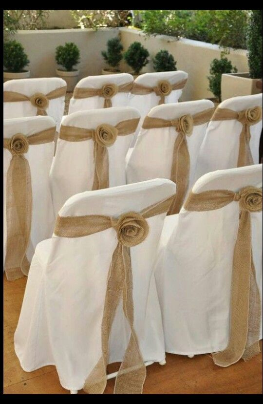 Burlap Chair Covers Ideas Phillips Collection Seat Belt Cover With Bow No Flower Wedding