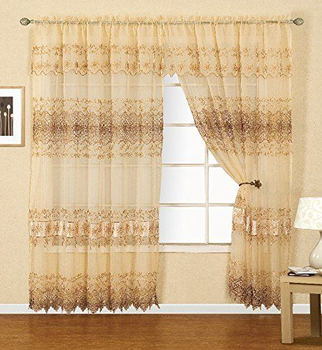 Dainty Home Lauren Curtain With Attached Lining And Valance Buy Now From Https Www Amazon Com Dainty Home Curtain Curtains Drapes Curtains Panel Curtains