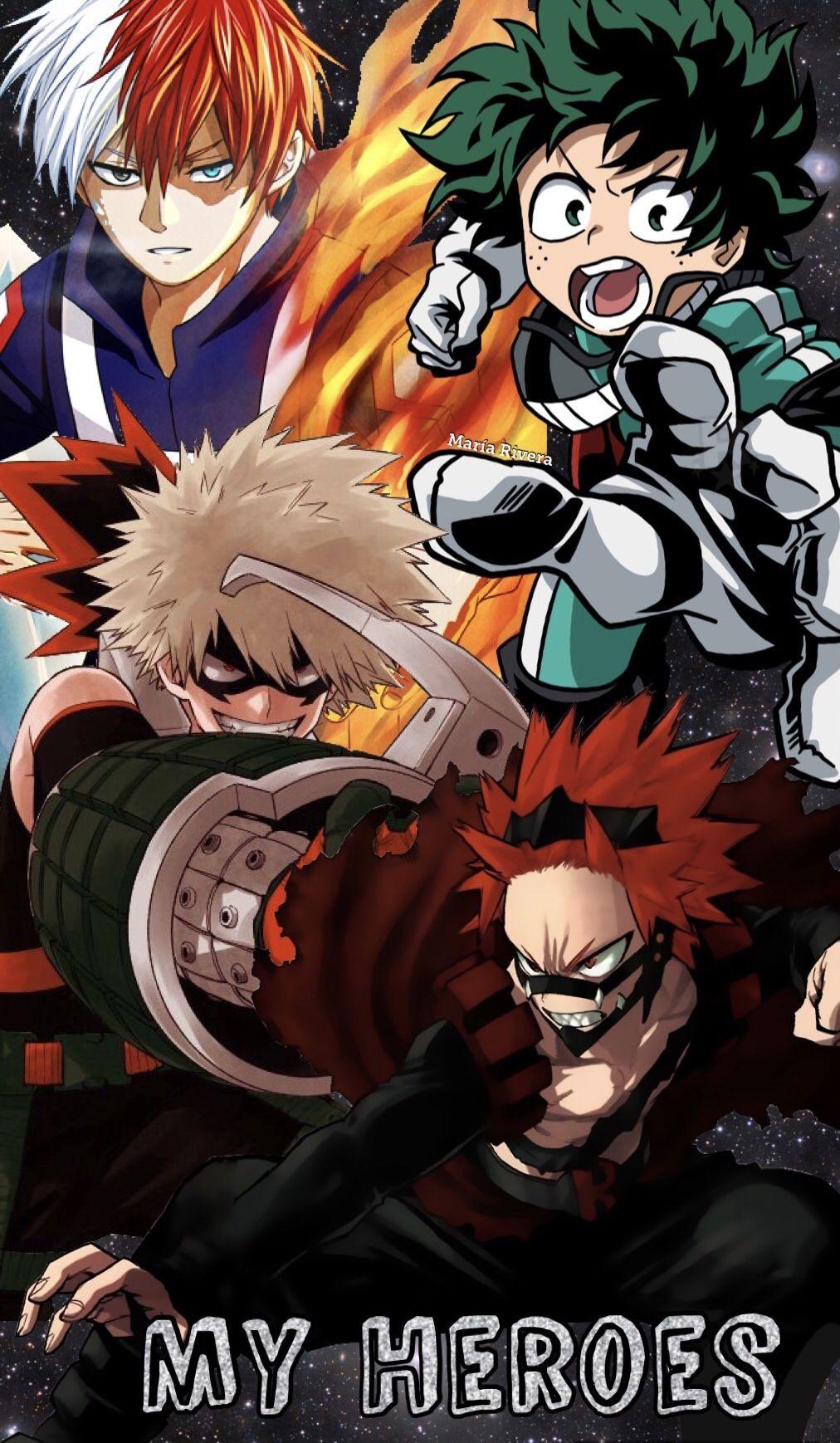 Bakugou Katsuki Midoriya Izuku Todoroki Shouto Kirishima Eijirou Boku No Hero Academia Hero Boku No Hero Academia Hero Wallpaper