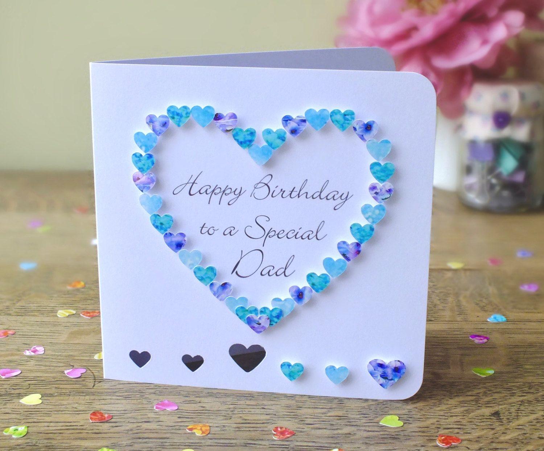 Valentine Card Design Handmade Happy Birthday Greeting Card For Father
