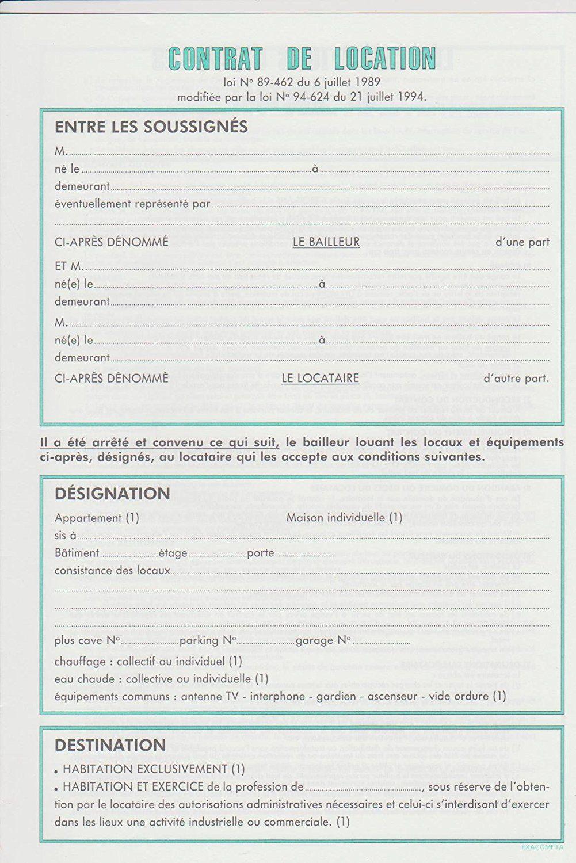 Bail De Location Gratuit A Imprimer Design De Maison Contrat