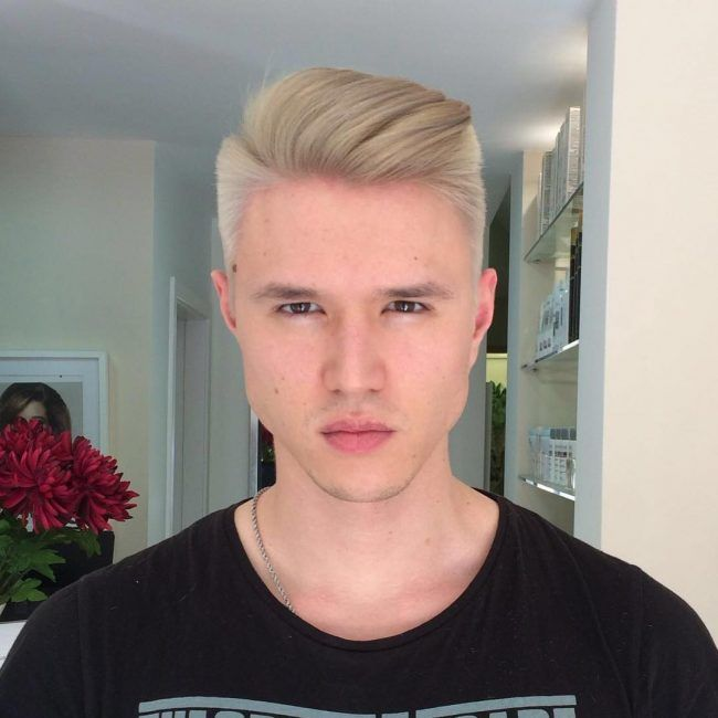 80 Stunning Bleached Hair For Men How To Care At Home In 2020 Bleached Hair Bleached Hair Guys Blonde Asian Hair