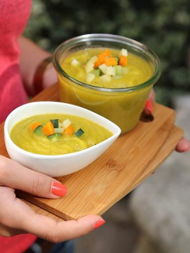 Soupe à la carotte, aux panais et à la courgette | Recette