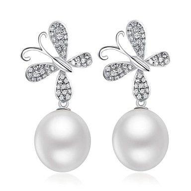 Hanazo? Womans 925 Silver 8-9mm Natrual Pearl Earrings http://mxpi.co.nf/?item=1451498