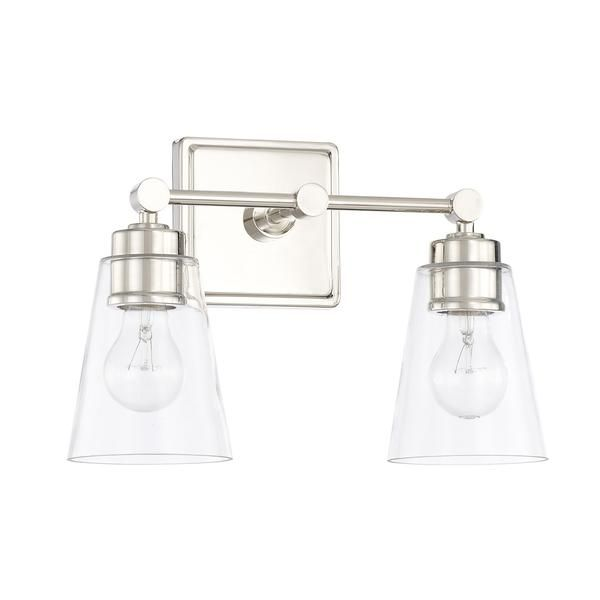 Bathroom Vanity Lights With Clear Glass Shades enright vanity light | transitional bathroom, vanities and lights