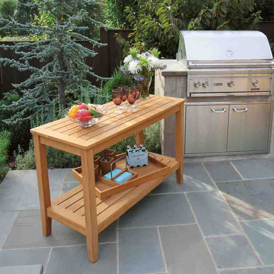 Outdoor Buffet Table With Cabinets