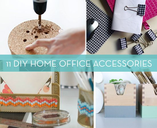roundup 11 diy home office decor accessories and projects