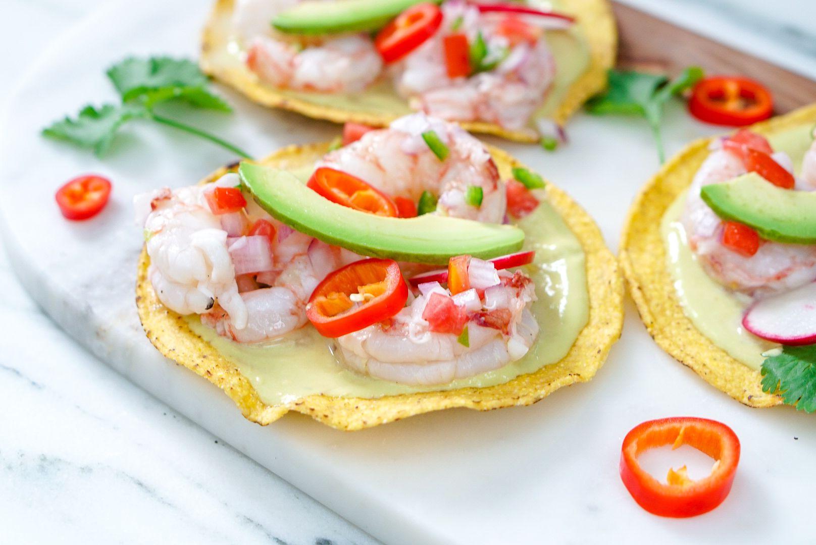 Shrimp Ceviche Tostada | Recipe | Ceviche, Shrimp ceviche ...