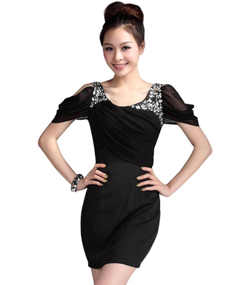 c3ba654cb7 Fatkart Dazzling Cut-Out Shoulder Dress | dresses | Pinterest