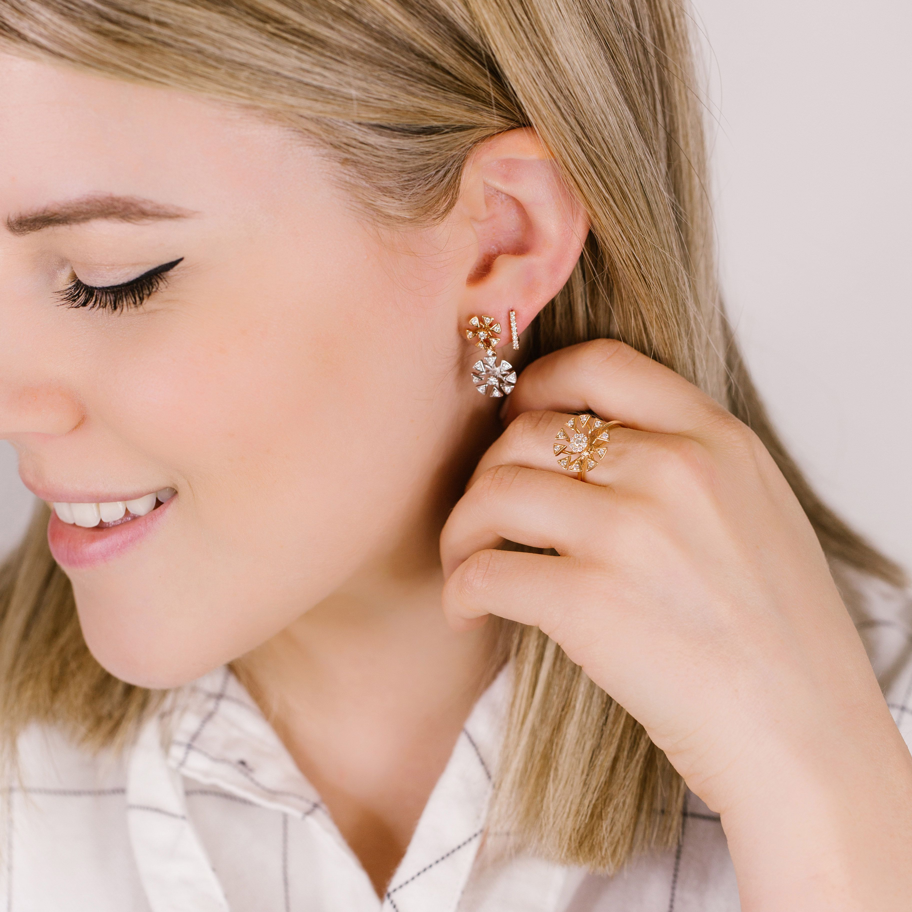 My Brand New Emily Sarah Drop Earrings Are The Definition Of Elegant Edge Leave Me A If You Need This Look In Your Life Jewelry Earrings Jewelry Collection