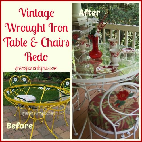 Vintage Wrought Iron Table And Chairs Redo With Images Wrought