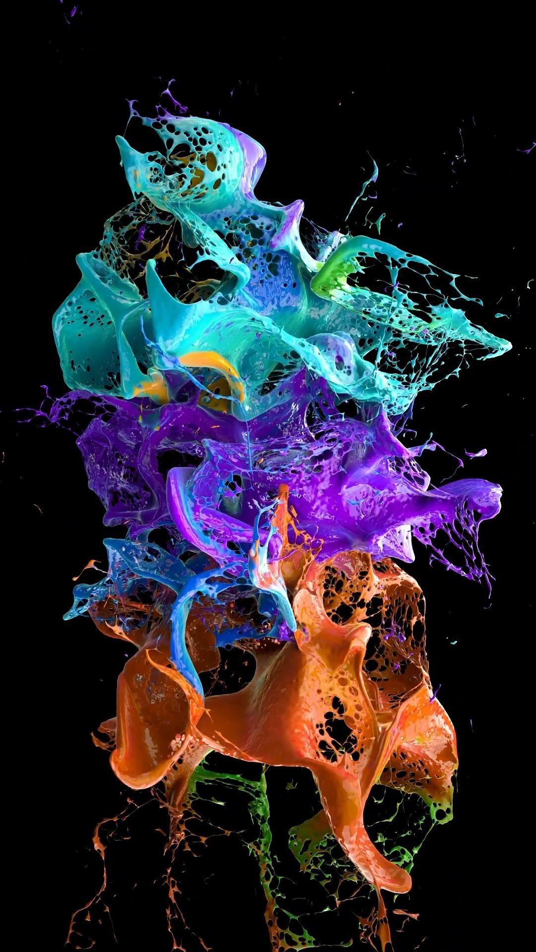 Wonderful color splash wallpaper in 2020 Iphone