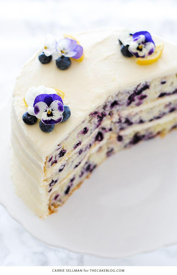 Lemon Blueberry Cake The Cake Blog Recipe Blueberry Lemon Cake Lemon Blueberry Blueberry Cake
